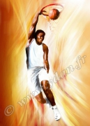 art numerique sport basket basketeur ballon panier : REPRODUCTION IMAGE ART SPORT BASKETBASKETEUR